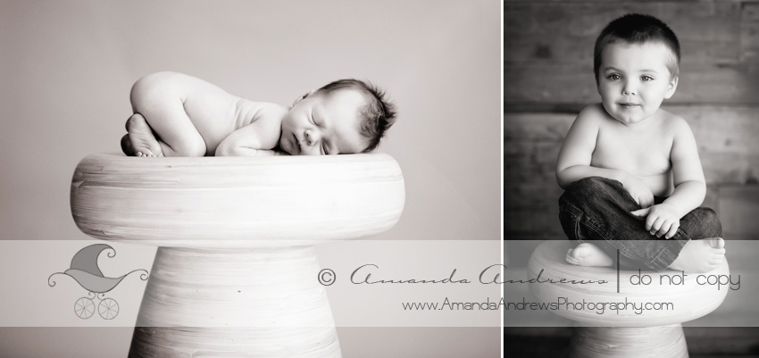 newborn and 2 year old photos