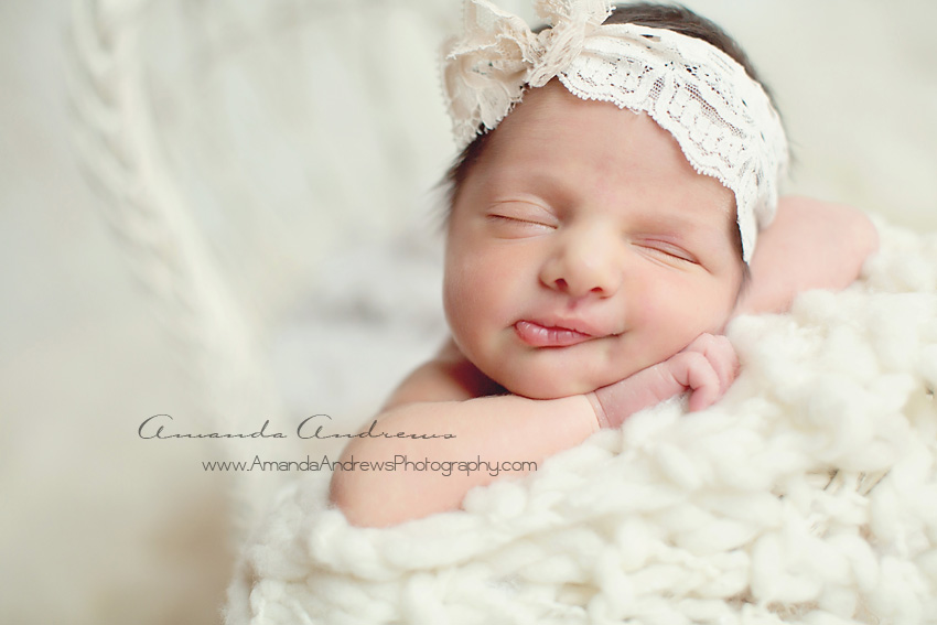 Baby Smiling in Sleep Sleeping Newborn With Smile