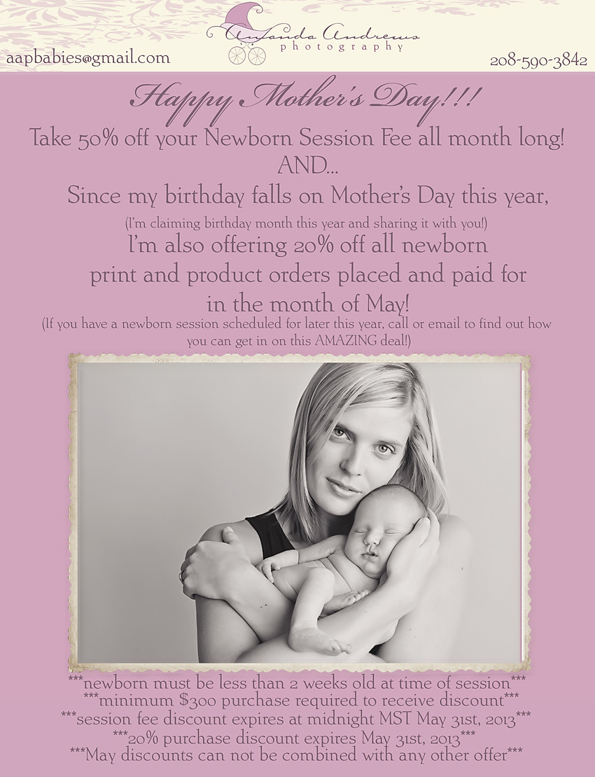 mothers day special newborn pictures boise